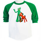 GUMBY & POKEY, Cool ,Cartoon Baseball Ts Size S-3XL, T-Shirt Size S-5XL, T-1152