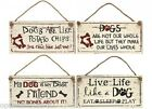 HUMOROUS HANGING DOG  SIGNS PLAQUES VARIOUS DESIGNS