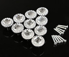 10 Pcs 30mm Diamond Crystal Glass Shape Cabinet Knob Cupboard Drawer Pull Handle