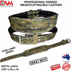 DAM 4INCH WIDE WEIGHT LIFTING BELT WEIGHTLIFTING BODYBUILDING GYM BACK SUPPORT
