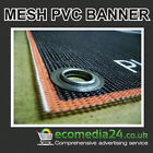PVC Mesh Banners / Large / Huge / Printed Vertical Outdoor Advertising Banner