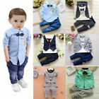 Внешний вид - 1 set Baby clothes kids boys wedding party suit top+pants tuxedo outfits set