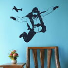 SKYDIVING EXTREME SPORT Wall sticker kids vinyl stencil new decal ne59