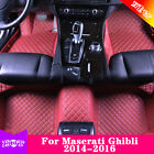 For Maserati Ghibli 2014-2016 Yes 7 Colors Waterproof Car Mat Leather Liner Y2R3