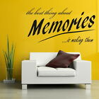 Memories - Removable Wall Quote / Home Vinyl Decal / Interior Wall Quote DAQ10