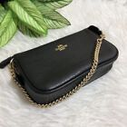 Coach F53340 F30258 Large Wristlet 19 In Pebble Leather