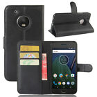 Flip Magnetic Card Wallet PU Leather Case Stand Cover For Motorola Moto G5 Plus