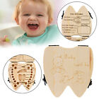 Tooth Box Organizer for Baby Milk Teeth Save Wood Storage Box for Kids Boy