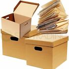 """ARCHIVE FILING A4 STORAGE CARDBOARD MOVING FILE BOXES 15x12x10"""" *FAST DELIVERY*"""