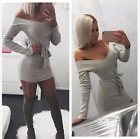 New Sexy Women Off Shoulder Bandage Party Cocktail Evening Short Mini Club Dress