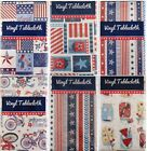 Patriotic Themed Vinyl Flannel Back Tablecloths Various Styles/Sizes