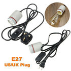 E27 Reptile Ceramic Heat Bulb Socket Holder Adapter Lamp Fitting & Switch 250W**