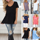 Fashion Women's Short Sleeve Loose Blouse Casual Shirts Summer Tops T-Shirt Tee