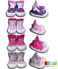 Baby Infant Girl Indoor Outdoor Non Slip Socks Slippers With Rubber Sole Size4-6