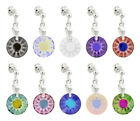 Sterling Silver Stud Earrings with SWAROVSKI 6724G Sun 12mm Frosted Crystals