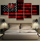 Tampa Bay Buccaneers Sport Flag Logo Modern Canvas Wall Art Picture Home Decor