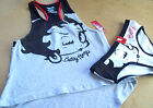 WOMEN'S BETTY BOOP 2PC TANK TOP PAJAMA - GRAY - Size Med $27.95 USD