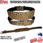 DAM CHEETAH 4INCH WIDE WEIGHT LIFTING BELT WEIGHTLIFTING BODYBUILDING BELT GYM