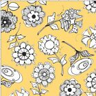 Loralie Paper Posies Fabric Yellow Toss Quilting 100% Cotton FQ BTHY BTY