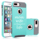 For iPhone X 5s 6 6s 7 8 Plus Shockproof Hard Case Mom Wife Blessed Life Mother