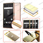 Luxury Aluminum Metal Bumper Mirror Hard Back Case Cover For Sony Xperia Models