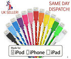 STRONG BRAIDED LIGHTNING Sync Data Cable USB Charger for iPhone 6 5 5S 5C iPad 4