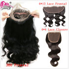 360 Frontal Body Wave Brazilian Virgin Human Hair 4*4 Lace Closure Lace Frontal