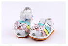 Girl's Infant Toddler Childrens Squeaky Shoes White Real Leather Summer Sandals