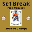 (HCW) 2015-16 Upper Deck Champs Hockey NHL Cards Mint Set Break - You Pick $0.74 USD on eBay