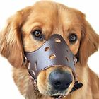 Pawliss Adjustable Anti-biting Dog Muzzle Leather New