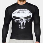 The Punisher Skull Athletic Crew Neck Gym T-shirt Fitness Bodybuilding Tee