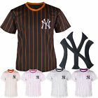 NY Yankees embroidered Pin Stripe Baseball Dry fit Tshirts tee Jersey shirt Top