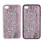 Family Is Where Life Begins | Rubber or plastic phone cover case...