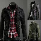 New Men Casual Stylish Slim Fit Zip Coat Jacket 3 color TXSU