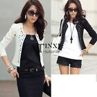 New Women Korean Fashion Lady Long Sleeve Shrug Suits Blazer Short TXSU