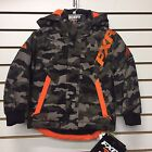FXR CHILD/YOUTH SQUADRON Snowmobile Jacket ARMY URBAN CAMO/ORANGE Free Shipping