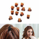 12 pcs Mini Plastic Hair Claw Clamps Bulldog Clips Grips Style Fashion Accessory