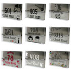 Personalised Custom Acrylic Modern House Sign Door Number Name Road Plate Plaque