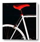 Bike In Black White And Red No 1, Large Abstract Fine Art Canvas Print, Wall Art