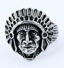 tibet motor jewlry men's stainless steel new tibet head design ring big Size11