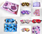 Girls Sleep Mask Bag Gift Set MANY STYLES Blindfold Eye Shade Drawstring Pouch