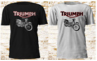 New Classic TRIUMPH MOTORCYCLE For GIFT INDIAN White Black T-Shirt Size S-3XL $17.99 USD on eBay
