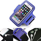 Adjustable Strap Gym Workout Sports Running Cycle Pouch Case Cover Holder BLUE