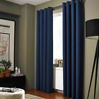 2 ADAM Navy Blue Greek Thermal Sunlight Blocking Blackout Window Curtain Panels