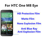 3pcs For HTC One M8 Eyeor  Matte/Nano Explosion/Anti Blue Ray Screen Protector