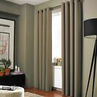 2 ADAM Taupe Tan Greek Thermal Sunlight Blocking Blackout Window Curtain Panels