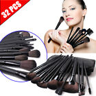 32pcs Professional Cosmetic Soft Eyebrow Shadow Makeup Brush Set Kit Pouch Case