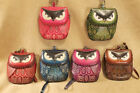 Owl Wristlet ~ choice of 6 colors ~ handmade leather ~ ID cash change purse