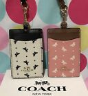NEW COACH BUTTERFLY DOT PRINT PVC COATED CANVAS  LANYARD ID CASE F59788 $65