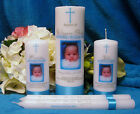Baptism Christening Candle with God Parent Candle and Tapers